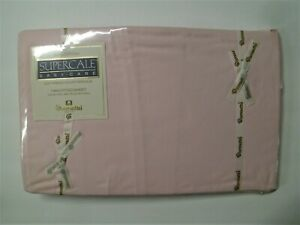 Vintage Wamsutta Supercale Twin Fitted Sheet Pink 200 Thread Count New Old Stock