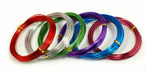 Aluminum Colorful  Craft Wire 9GA 12GA 15GAThickness 10YDS Long Jewelry Floral