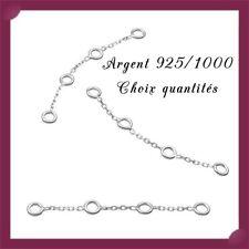 Chaînes d'extension 3,5cm avec 4 anneaux, en argent 925/1000. Réf: EXT4AN