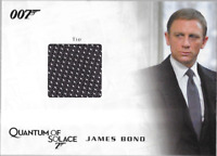 James Bond Archives Costume Wardrobe Prop Relic Card QC25 Bond's Tie