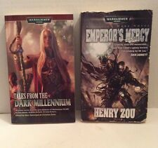 Lot of 2 Warhammer 40k Books - Tales From the Dark Millennium & Emperor's Mercy