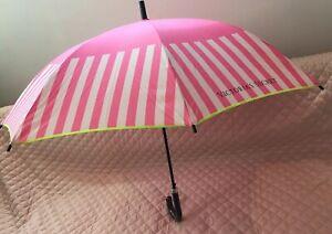NWT LIMITED Victorias Secret Stripe Lime Green Umbrella