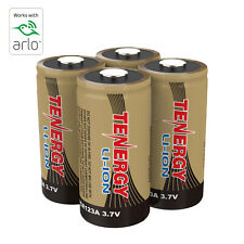 Tenergy 4PCS 3.7V RCR123A Li-ion Rechargeable Batteries for Arlo Security Camera