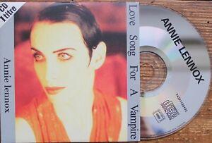 CD SINGLE CARDBOARD SLEEVE ANNIE LENNOX LOVE SONG FOR A VAMPIRE