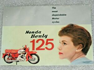 1959-1960 Honda 125 Benly CB92 Super Sports Racer C92 CA92 Dream Brochure OEM