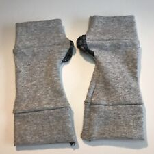 Ladies Short Cotton Gloves Gray Wrist Length Winter Driving Hand Warmers Men's