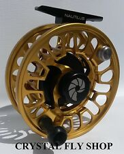 NAUTILUS NV G-7/8 #7/8 WEIGHT FLY REEL RARE CUSTOM GOLD RIGHT HAND RETRIEVE