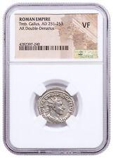 AD 251-253 Roman Empire Silver Dbl-Denarius Trebonianus Gallus NGC VF SKU56211