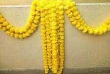 Artificial Marigold Garland yellow  Home Wedding Decoration Pack Of 5