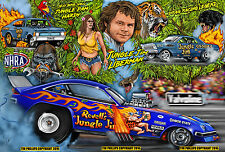 JUNGLE JIM LIBERMAN 13 X 19 DRAG RACING ART PRINT