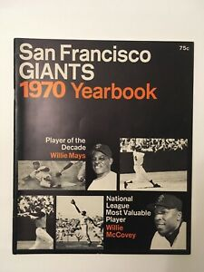 1970 San Francisco Giants Yearbook Very Good Condition