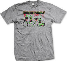 Zombie Family Mom Dad Kids Dog Death Undead Funny Mens T-shirt