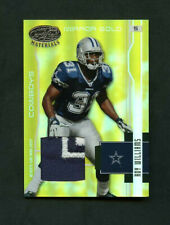 2003 Roy Williams Leaf Certified Materials Mirror Gold Jersey Patch /25 Cowboys