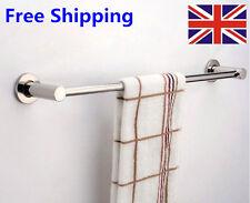 Stainless Steel Single Towel Bar Rail Rack Holder Rod Bathroom Wall Mounted UK