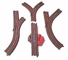 Thomas Tank Engine Zip Zoom Logging Stop Start + Y Switch Train Track - LOT OF 4