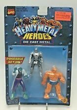 Marvel Heavy Metal Heroes Action Figures Die Cast Armored Spiderman Lizard Thing