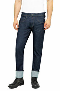 """REPLAY Jeans ANBASS M914Y Skinny Jeans """"0 Year aged"""" Rinse NEU UVP 119,00"""