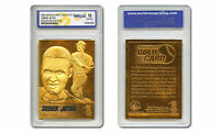 DEREK JETER Yankees Gold SIGNATURE 23K GOLD Sculptured Card - Graded GEM-MINT 10