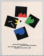 1988 Paul Rand ART DIRECTORS CLUB 3rd Int'l Exhibition Call For Entries POSTER