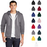 American Apparel F497W Flex Fleece Full Zip Hoodie Unisex Pocketed Classic Fit