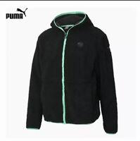$130 Puma Porsche Legacy Hooded Fleece Jacket  598117_01 Men's Size M Medium NWT