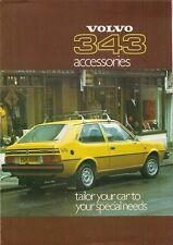 VOLVO 343 DL accessori 1977-78 UK Opuscolo Vendite sul Mercato PIEGA 340-Series