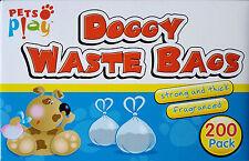 200 DOGGY BAGS Scented Pet Pooper Scooper Dog Cat Poo Waste Toilet Poop dispose