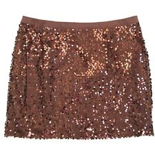 Banana Republic Skirt Womens 12 Mini Sequin Brown Clubwear Copper Party Holiday
