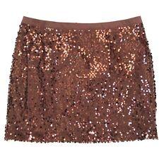 Banana Republic Skirt Sequin Mini Womens 12 Brown Clubwear Copper Party