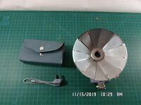 Vintage Delta Camera Fan Flash-Gray Vinyl Case-Sync Cord-Photography-Flash Bulb