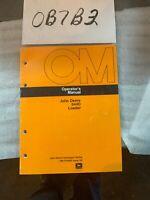 John Deere Model 644D Wheel LDR Owner Operator Maintenance Manual OMT81869 NOS