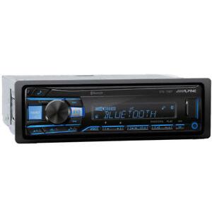 Alpine UTE-73BT, Single-DIN Car Digital Media Audio Stereo Bluetooth, USB MP3
