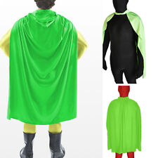 Green Cloak Adult Cape Zentai Masquerade Superhero Halloween Costume Fancy Dress
