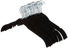 NEW!! AmazonBasics Shirt/Dress Hangers, Velvet - Black, Set of 30