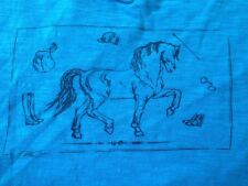 """Cowgirls for a Cause Blue 100% Cotton Horse Hobby Lifestyle Womens T-Shirt M 36"""""""