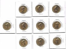 10 1867-1992 CANADA PARLIAMENT COMMEMORATIVE LOONIE PROOF LIKE DOLLAR COINS