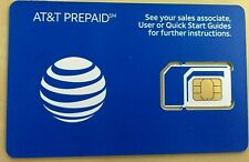 Official Brand At&T Prepaid SimCard 4G Lte Sim Card Unactivated 3In 1 Triple Cut