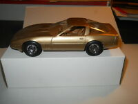 1986 CHEVROLET CORVETTE GOLD DEALERSHIP PROMO CAR MODEL IN ORIGINAL BOX
