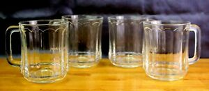 Duralex Clear Panel Coffee Cup Mugs Clear Set of 4 France Optic Istikan