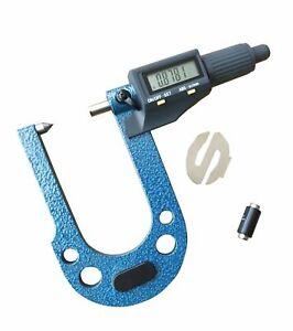 """Disc Brake Rotor Micrometer 0.3""""-1.3"""" /0.00005"""" Deep Reach Elec. Digital"""