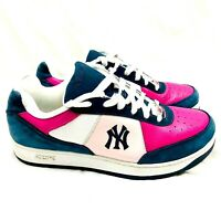 Reebok Authentic Collection NY Yankees Pink & Blue Shoes  Men's Size 10  RARE!
