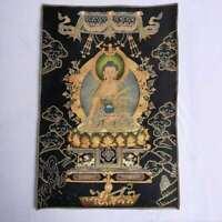 "36"" Tibet Tibetan Cloth Silk Rulai Menla Medicine Buddha Tangka Thangka Mural"