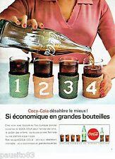 PUBLICITE ADVERTISING 126  1964  Coca- Cola en litre  soda