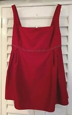 NWT Jordan All Dressed Up Cranberry Sz 24 Beaded Trim Lined Maternity Top $200