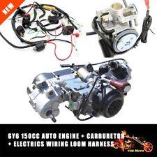 GY6 150CC Fully Auto Reverse Gear Engine + Wiring Loom Harness + Carburetor