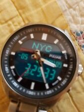 PULSAR by Seiko Analog Digital mens Stainless Steel Watch... BEAUTIFUL....