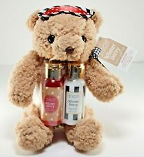 """Brompton & Langley Lovely Teddy Bear 7"""" Winter Berry Lotion & Gel Gift Set of 3"""