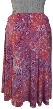 GEORGE Mauve Pink Orange Snakeskin Print Stretchy Knee-Length Skirt LARGE 12  14