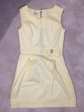 New Without tags Yellow  Party Evenings Dress Size 12 (EUR 40) Duet . Bow Decor