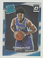 2017-18 Donruss Optic RATED ROOKIE #196 De'AARON FOX RC Kings QTY AVAILABLE
